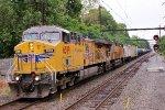 UP 6599 leading empty ethanol train K623.